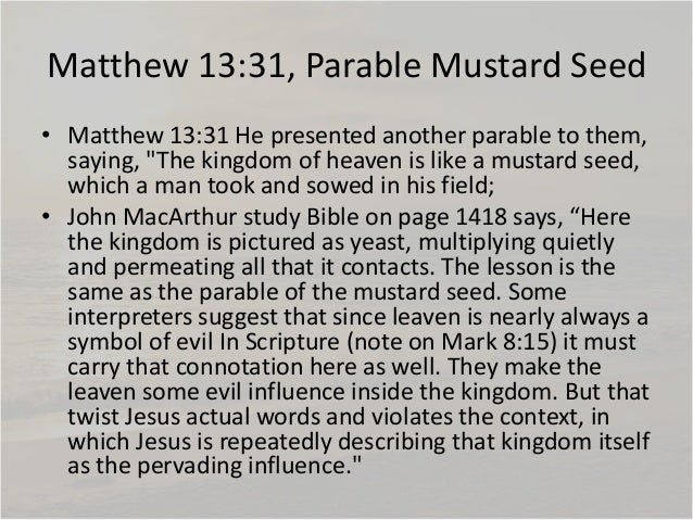 the parables in matthew chapter thirteen essay Shmoop bible guide explains the parables in gospel of matthew the parables analysis by phd and masters students from stanford, harvard, and berkeley.