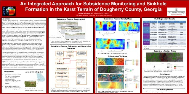 An Integrated Approach for Subsidence Monitoring and Sinkhole Formation in the Karst Terrain of Dougherty County, Georgia ...