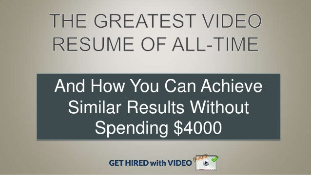 Tips For A Great Video Resume Spark Hire Pinterest It S  Video Resume Tips