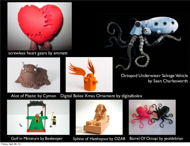 Alot of Plastic by Cymonscrewless heart gears by emmettDigital Bolex Xmas Ornament by digitalbolexGolf in Miniature by Bee...
