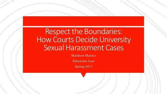 Sexual harassment boundaries