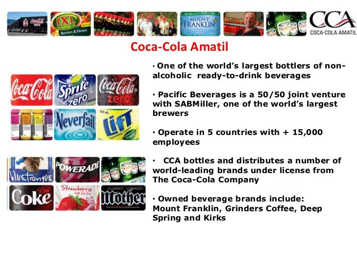 """coca cola amatil feasible study Posts about food industry written by  welfare standards """"in accordance with what is economically and scientifically feasible""""  coca-cola amatil limited."""