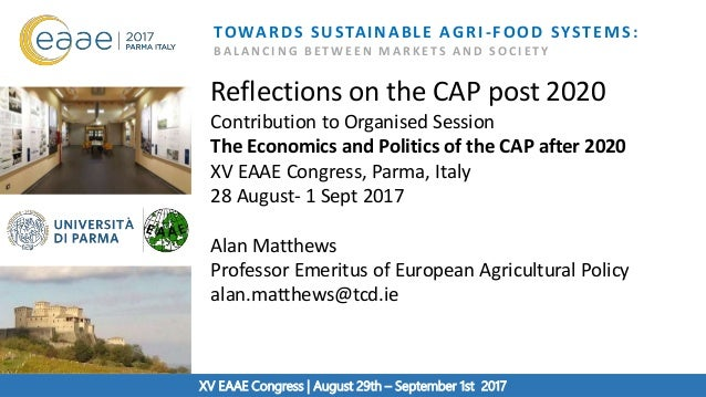 XV EAAE Congress TOWARDS SUSTAINABLE AGRI-FOOD SYSTEMS: B A L A N C I N G B E T W E E N M A R K E T S A N D S O C I E T Y ...