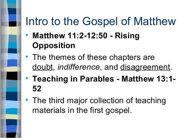 matthew s gospel intra jewish conflict and plight The apostolic origin and canonical rank of the gospel of matthew withdrawal of jesus following john's beheading - 14:1-36 11) conflict with a jewish gospel.