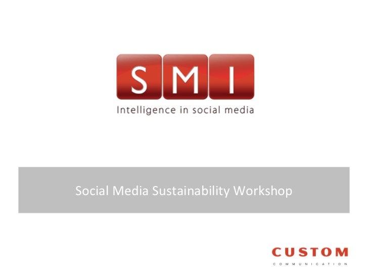 Social Media Sustainability Workshop