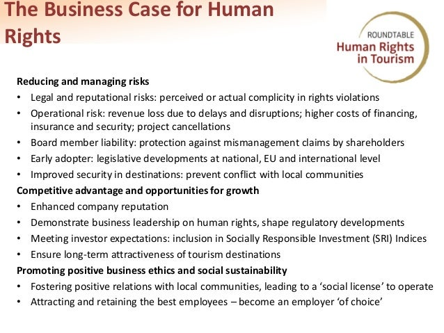 the growth of business human rights In practice, human rights and corporate social responsibility have become an important aspect of business strategies for many companies the commission endorses the un guiding principles on business and human rights, produces guidelines for small and medium-sized companies (smes) and supports projects to pilot a multi-stakeholder approach to csr in specific sectors.