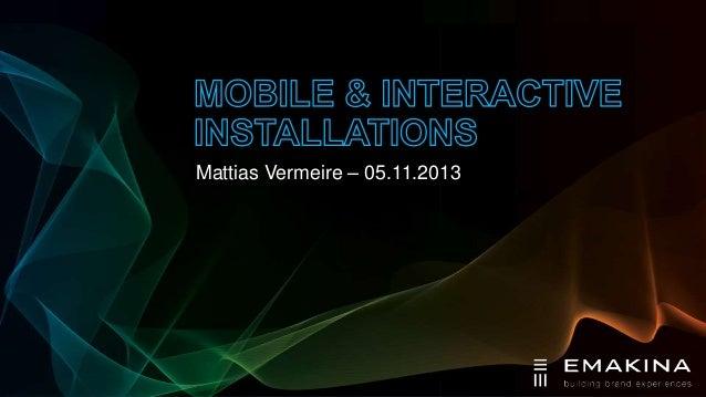 Mattias Vermeire – 05.11.2013