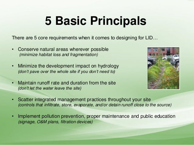 Low Impact Development Stormwater : Low impact development call to action