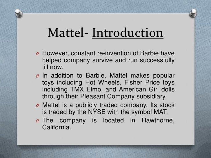 Mattle Barbie Marketing Mix