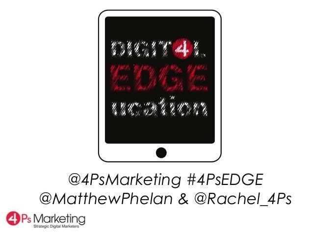 @4PsMarketing #4PsEDGE@MatthewPhelan & @Rachel_4Ps