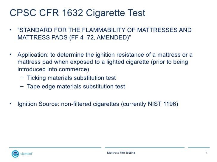 Why Mattress Fire Testing Is 50 Science And 50 Art