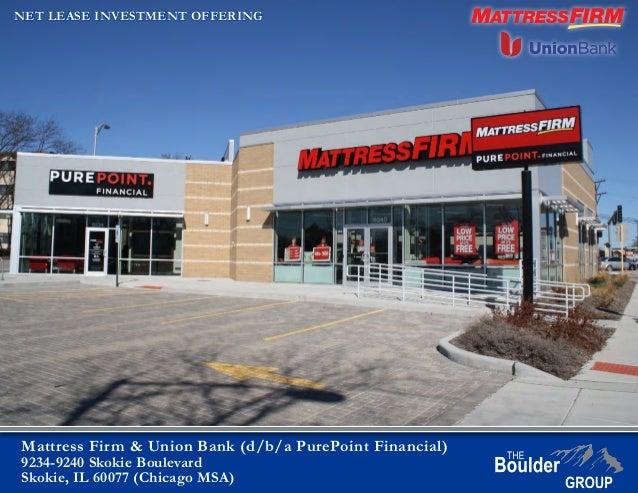 mattress firm building. Mattress Firm \u0026 Union Bank (d/b/a PurePoint Financial) 9234- Building