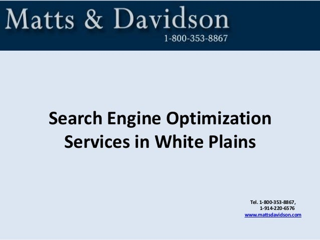 Tel. 1-800-353-8867, 1-914-220-6576 www.mattsdavidson.com Search Engine Optimization Services in White Plains
