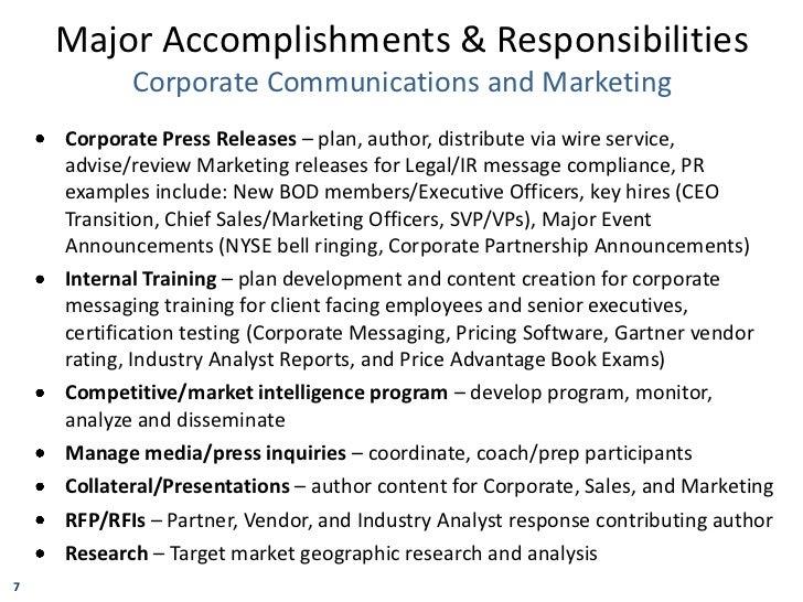 matt balfour major accomplishments responsibilities and ir