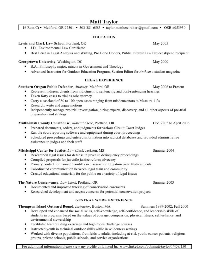 Resume Legal Clerk. matt taylor resume. legal resume template ...