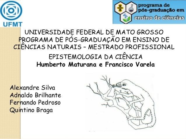 UNIVERSIDADE FEDERAL DE MATO GROSSO PROGRAMA DE PÓS-GRADUAÇÃO EM ENSINO DE CIÊNCIAS NATURAIS – MESTRADO PROFISSIONAL EPIST...