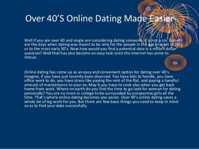 Online dating over 40