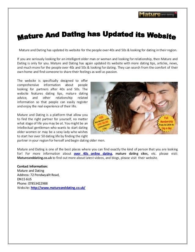 Dating site over 40 uk