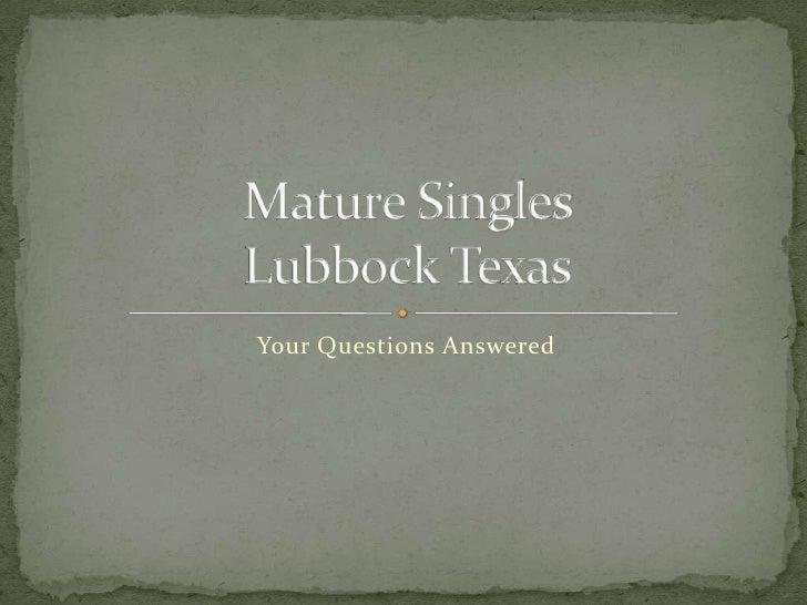 Lubbock texas singles groups