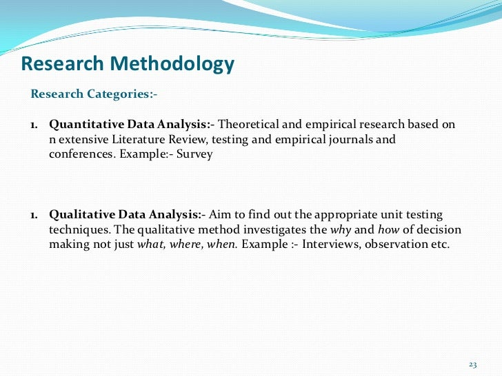 Research MethodologyResearch Categories:-1. Quantitative Data Analysis:- Theoretical and empirical research based on   n e...