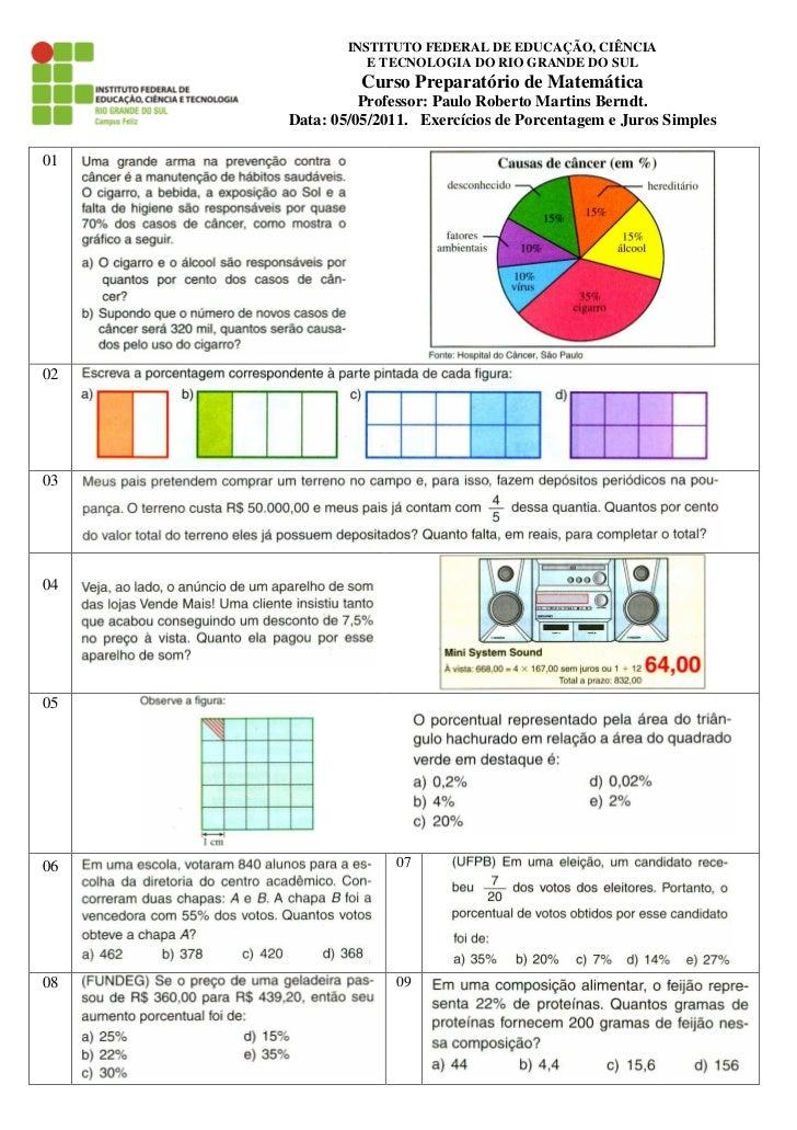 INSTITUTO FEDERAL DE EDUCAÇÃO, CIÊNCIA                E TECNOLOGIA DO RIO GRANDE DO SUL               Curso Preparatório d...