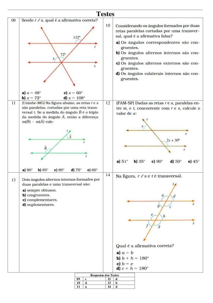 Mat Utfrs 16 Angulos Formados Por Duas Paralelas E Uma
