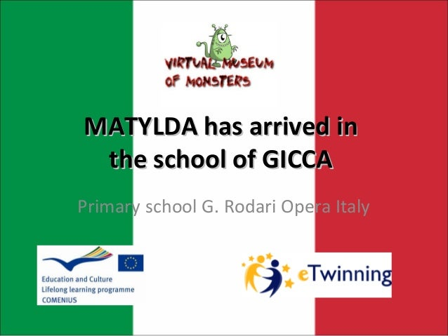 MATYLDA has arrived in the school of GICCAPrimary school G. Rodari Opera Italy