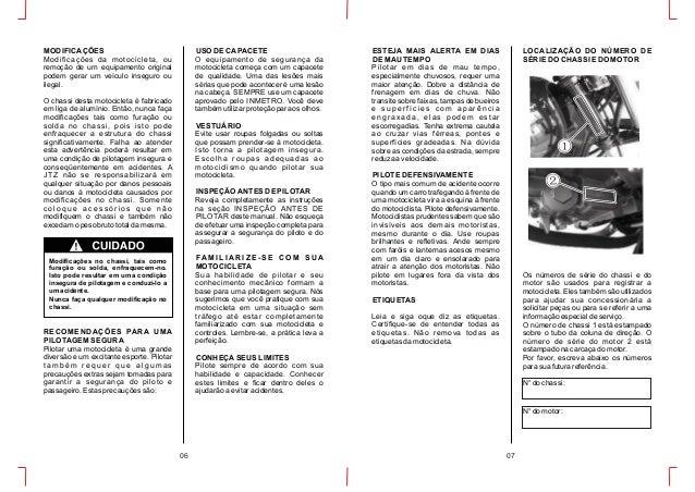Manual do proprietario chopper road 150cc
