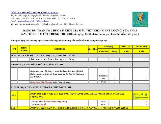 CÔNG TY TỔ CHỨC SỰ KIỆN SMARTEVENT Trụ sở: Số 18 ngõ 91, Nguyễn Chí Thanh, Đống Đa , Hà Nội Điện thoại : 024 6675 0782 - 0...