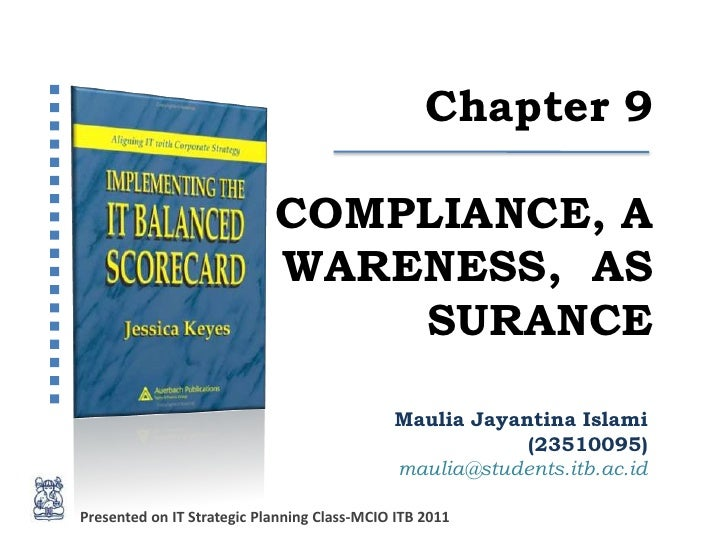 Chapter 9                            COMPLIANCE, A                            WARENESS, AS                                ...