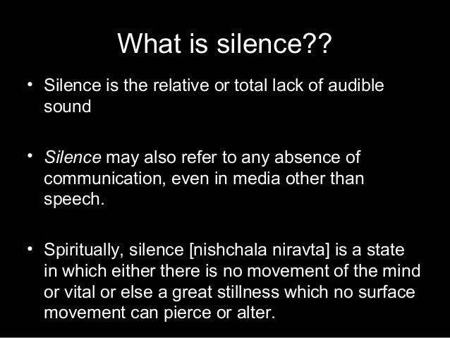 importance of silence for students