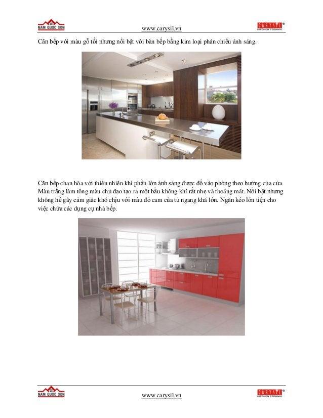 www.carysil.vn www.carysil.vn Căn bếp với màu gỗ tối nhưng nổi bật với bàn bếp bằng kim loại phản chiếu ánh sáng. Căn bếp ...