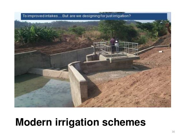 Modern irrigation schemes 16