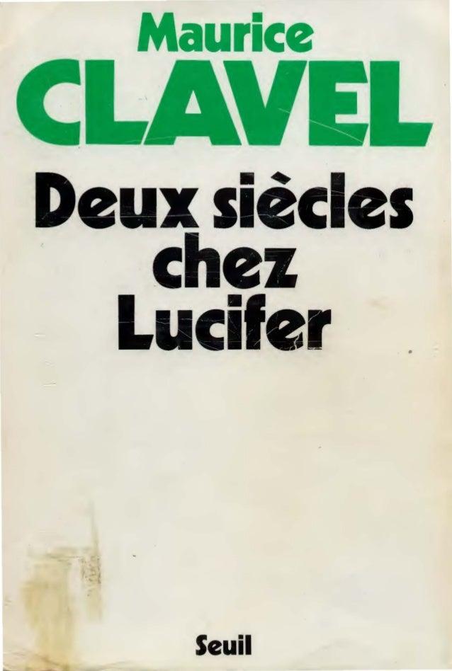 Maurice Deux siècles chez Lucifer . .. Seuil