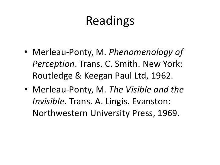 Maurice Merleau Pontys Approach To Consciousness