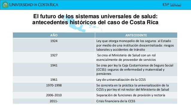El futuro de los sistemas universales de salud: el caso de Costa Rica Slide 3