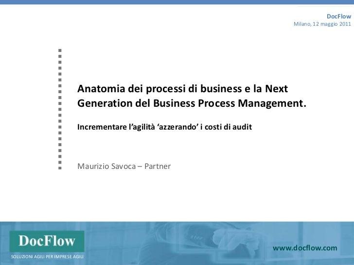 DocFlow<br />Milano, 12 maggio 2011<br />Anatomia dei processi di business e la Next Generation del Business ProcessManage...