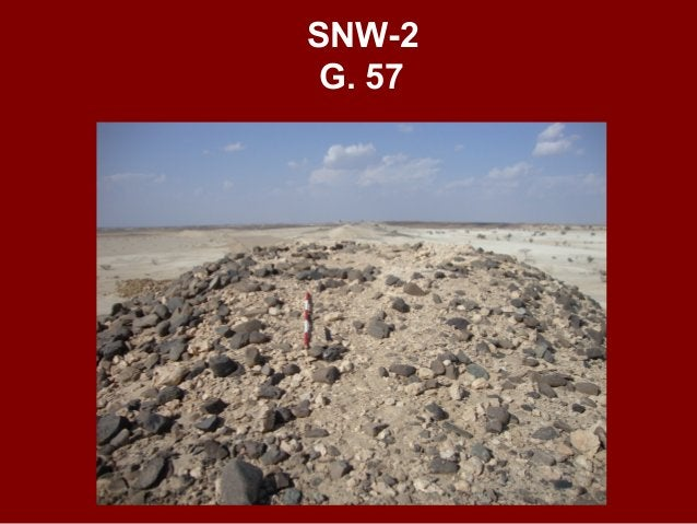 SNW-3 G. 40 SUPPOSED EARLY HAFIT GRAVE IN SHALLOW CAIRN