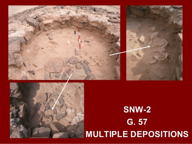 SNW-3 G. 40 LATE HAFIT TO UMM AN-NAR BURIAL WITH DEPOSITIONS IN AT LEAST FOUR STAGES: FIRST A MALE ADULT, SECOND A FEMALE ...