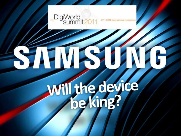 Disruptions in the device market                                   2/8