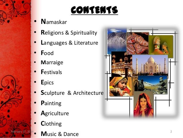 Mausami ppt on indian culture and heritage new for American cuisine presentation