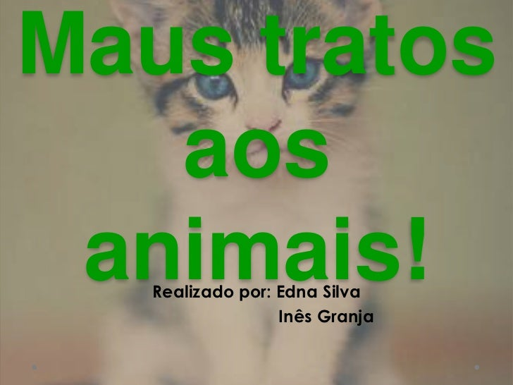 Maus tratos aos animais!<br />Realizado por: Edna Silva <br />                             Inês Granja<br />