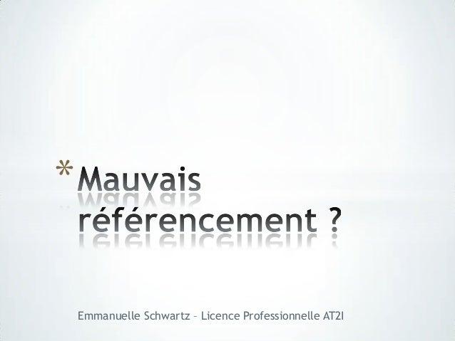 *    Emmanuelle Schwartz – Licence Professionnelle AT2I