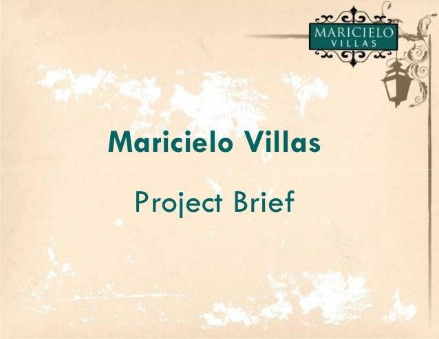 Maricielo Villas Project Brief