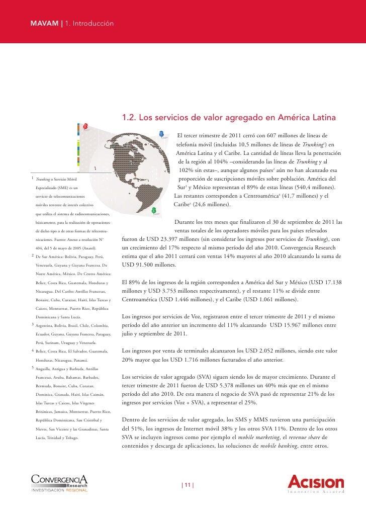 MAVAM | 1. Introducción                  Gráfico 5.         Crecimiento de      los ingresos netos      de telefonía móvil...