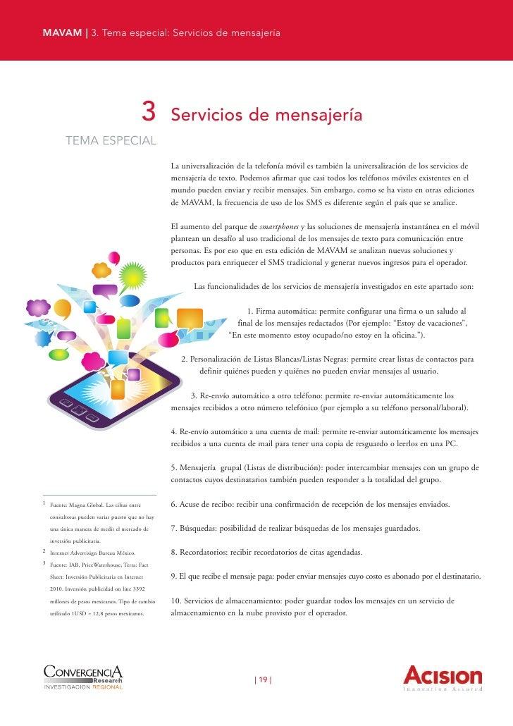 MAVAM | 3. Tema especial: Servicios de mensajería                                                     11. SIM múltiple: po...