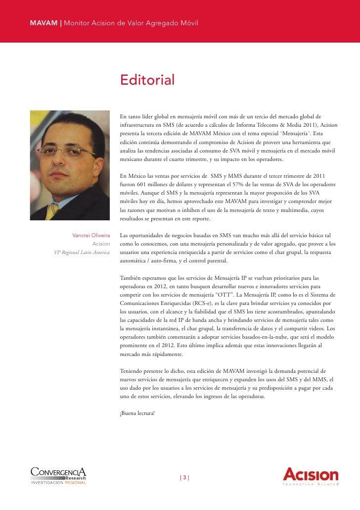 MAVAM | Monitor Acision de Valor Agregado Móvil        Indice  2     Editorial  6     1. Introducción  7        1.1. Los s...