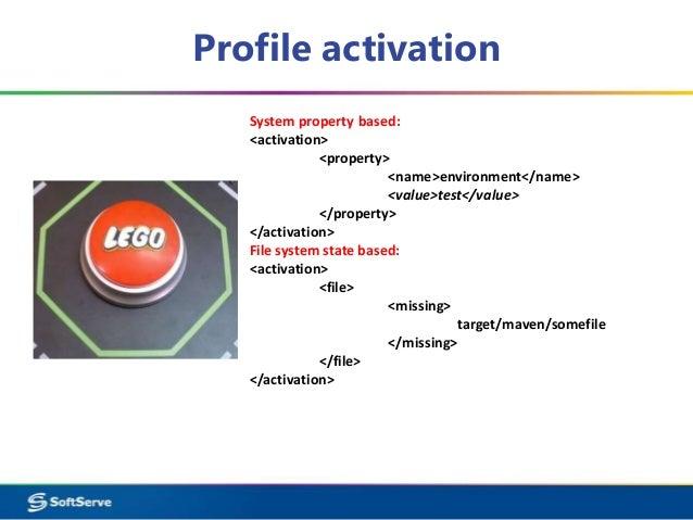 maven profile activation property default