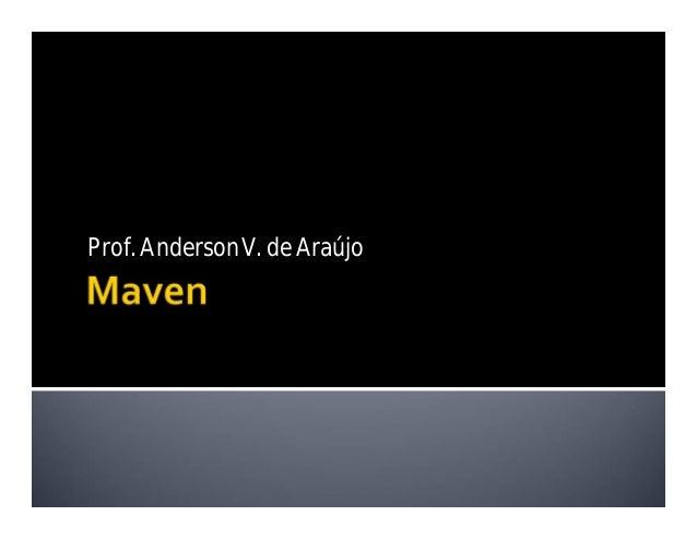 Prof. AndersonV. de Araújo