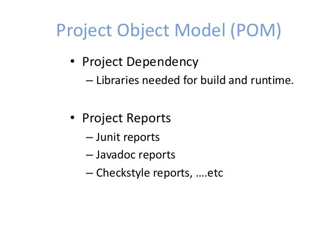 building and managing projects with maven